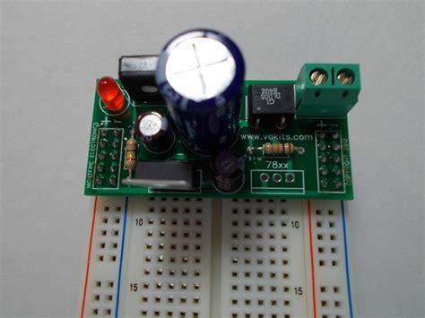 solderless breadboard adjustable power supply kit