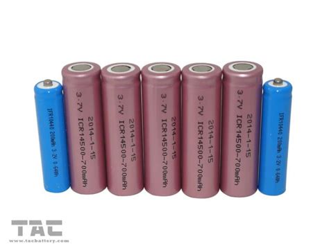 lithium ion aa batteries 700mah cylindrical icr14500 aa sanyo lithium ion