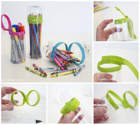 come fare fiori con bottiglie di plastica bottiglie di plastica e zip per fare un astuccio tutorial