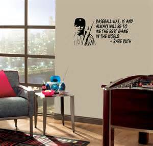 Wrigley Field Wall Mural babe ruth wall quote baseball the best game vinyl decal