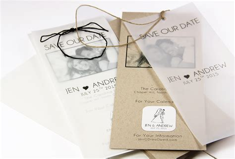wedding invitations using vellum paper diy save the dates with kraft vellum lci paper