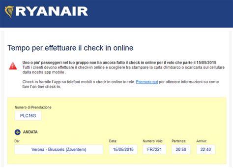 ryanair check inn ryanair cosa serve per fare il check in