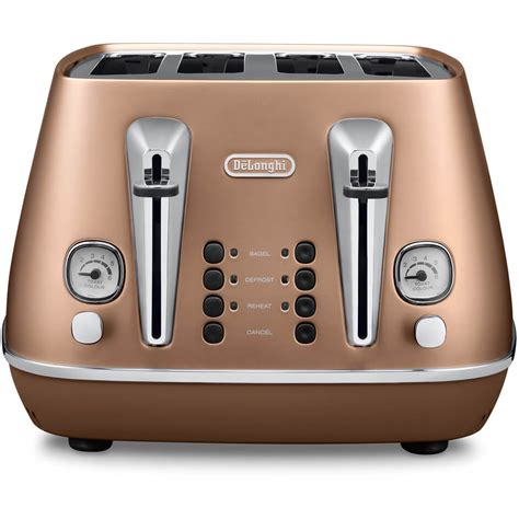 copper colored appliances de longhi cti4003 cp distinta 4 slice toaster copper