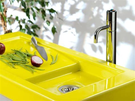yellow kitchen sink colorful neon yellow sink and counter top digsdigs