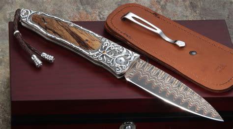 henry knives william henry b30 vine folding knife copper wave and