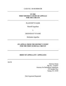 issue brief template an appellate brief template for word