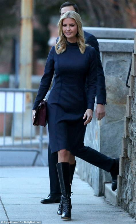 Daily Mail Boots Detox ivanka leaves for work in 1 300 leather boots