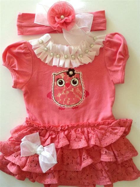 newborn baby take me home pink owl lace