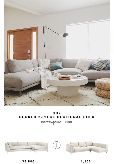 Decke Sofa by Cb2 Decker 2 Sectional Sofa Copycatchic