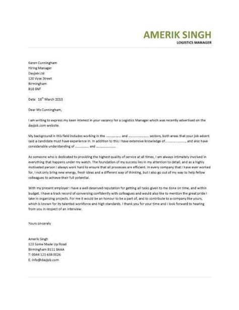 warehouse operative cover letter cover letter for warehouse cover letter tips for