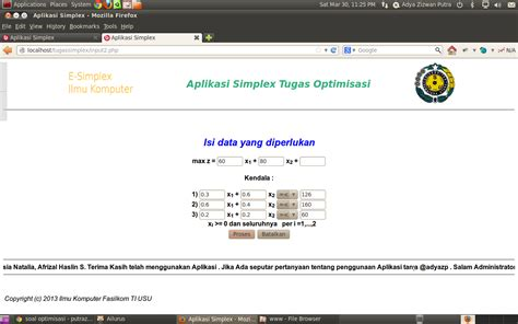membuat blog untuk pembelajaran aplikasi simplex untuk pembelajaran model simplex online