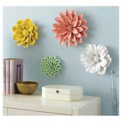 Ceramic Flower Wall Decor by Threshold Ceramic Flower Wall Sculpture White Den