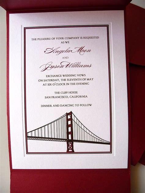 san francisco wedding invitation 137 best images about san francisco inspired on letterpress wedding invitations