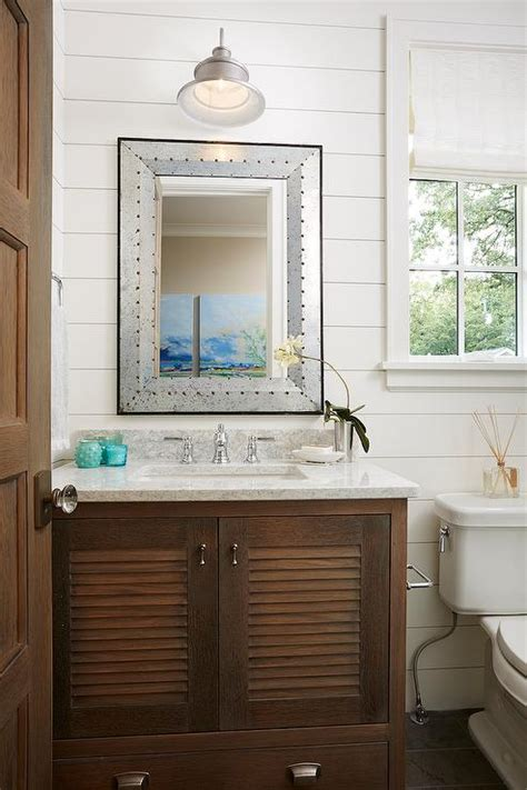 galvanized bathroom chic cottage bathroom features shiplap walls lined with a