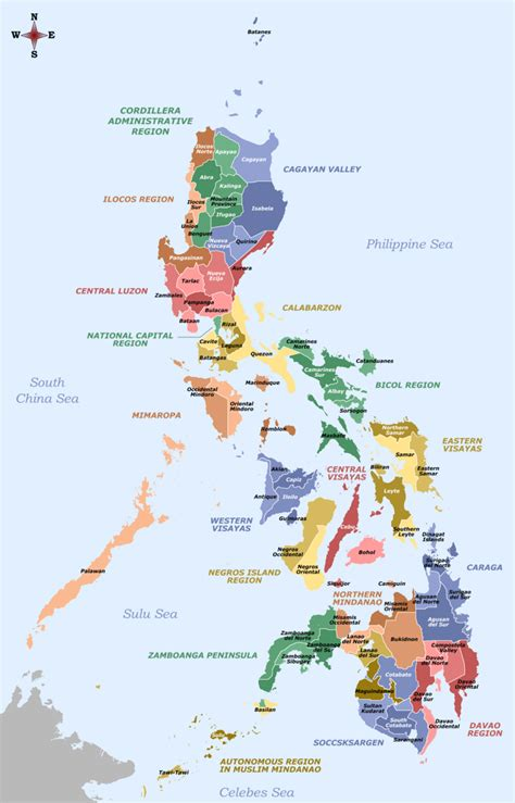 map of phillipines provinces of the philippines