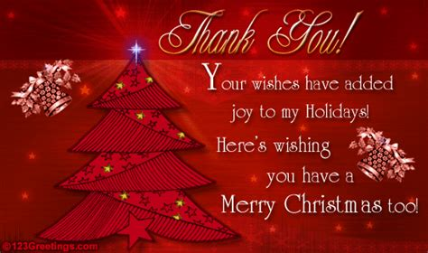 Do You Send Thank You Cards For Christmas Gifts - thank you for your wishes free thank you ecards greeting cards 123 greetings