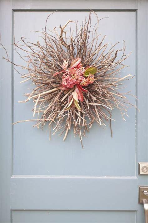 diy fall door d 233 cor twig wreath diy decor autumn crafts tablescapes pinterest rustic