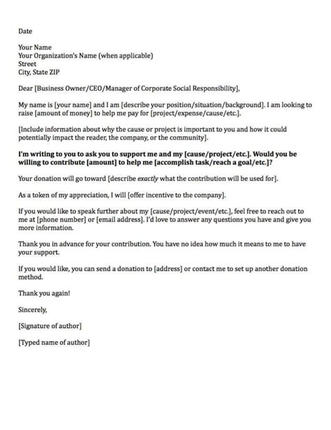 free request for donation letter template sample donation letters
