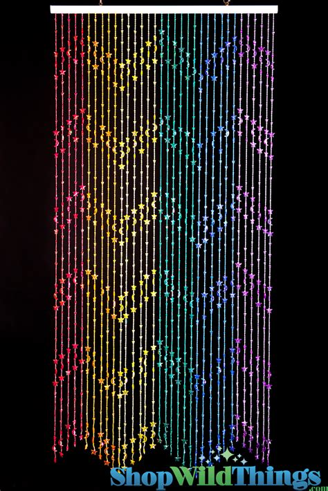 door bead curtain rainbow beaded curtains stars moons rainbow door beads