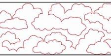 Free Motion Quilting Clouds by The Dread Pirate Rodgers Web Page