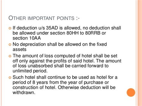 section 35 of income tax act incentives available for hotel industry under section 35ad