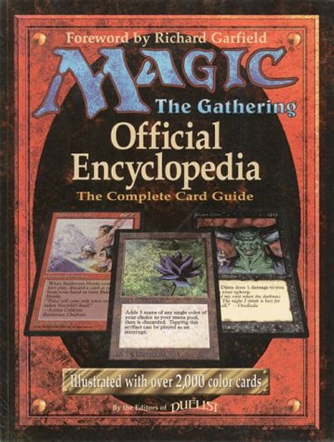the card s guide to kipper cards books magic the gathering the official encyclopedia and the