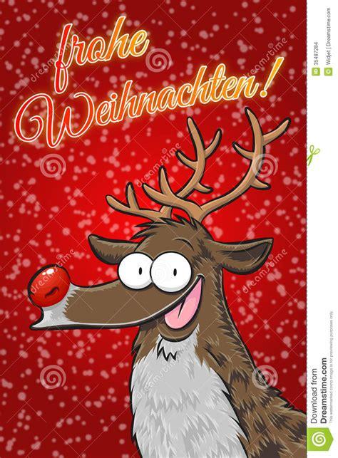 rudolph frohe weihnachten alemao imagens de stock imagem
