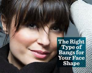 best type of bangs for different types of faces the right type of bangs for your face shape