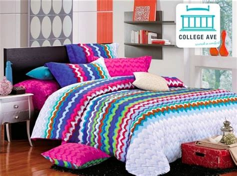 Xl Comforter Sets For College by Rainbow Splash Xl Comforter Set College Ave