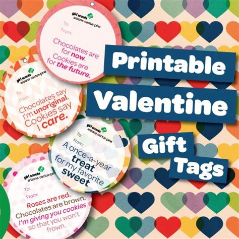 printable gift tags for cookies 92 best girl scouts images on pinterest girl scout swap
