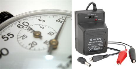 how does it take to charge up a capacitor charging times 6v 12 or 24v ride on child s