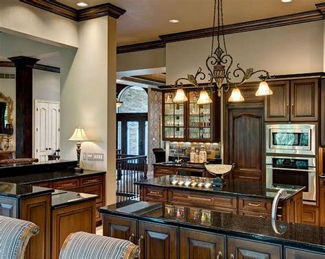 elegant classic cherry kitchen cabinets with granite black glazed cherry cabinets accented with galaxy black