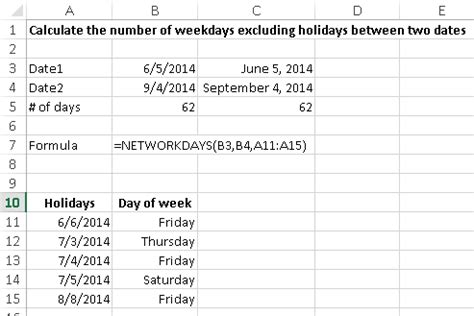 Calendar Calculator Add Weeks Calculate The Number Of Days Between Two Dates Using Excel
