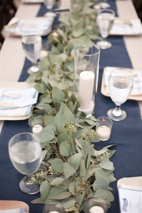 eucalyptus table runner secluded garden estate wedding