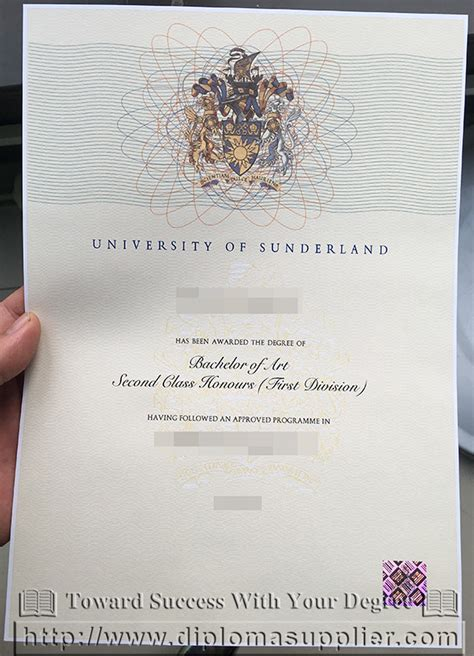 Mba Degree Arts by Of Sunderland Degree Certificate How To