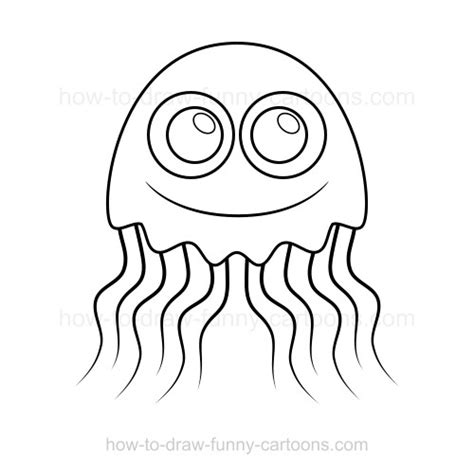 cartoon jellyfish coloring pages how to draw a jellyfish