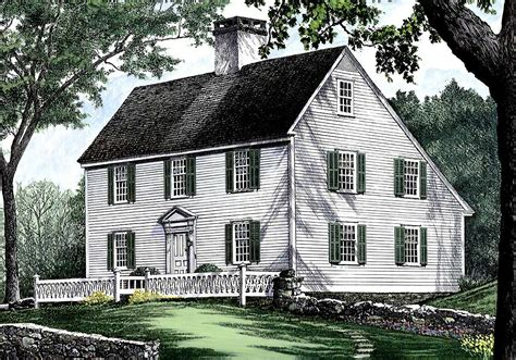 salt box style house saltbox style historical house plan 32439wp