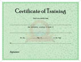 Training Certification Template Certificate Of Training Certificate Template Pinterest