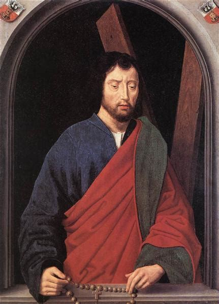 Hansa Andrew st andrew left wing of a diptych 1490 hans