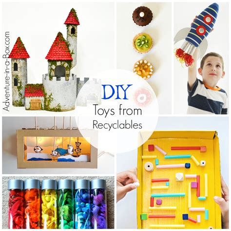 Handmade Childrens Toys - diy toys for from recyclable materials adventure in