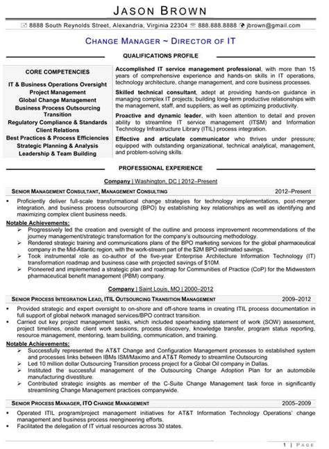 executive level information technology resume resume examples