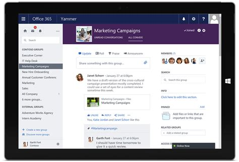 Office Yammer Yammer Makes Collaboration Easier With Office 365 Integration