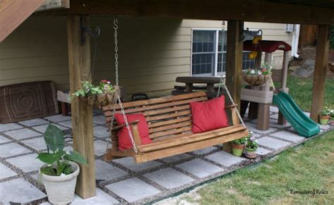 swing under deck deck swing plans woodworking projects plans