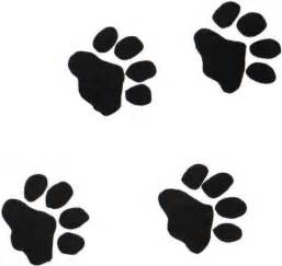black panther paw prints clipart clipart