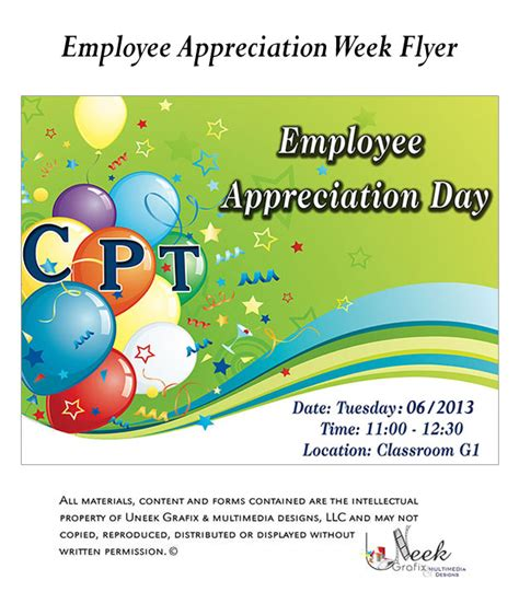 employee appreciation cards templates 7 best images of employee lunch flyer template employee
