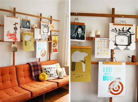 hang poster without frame 17 best ideas about hanging pictures without nails on