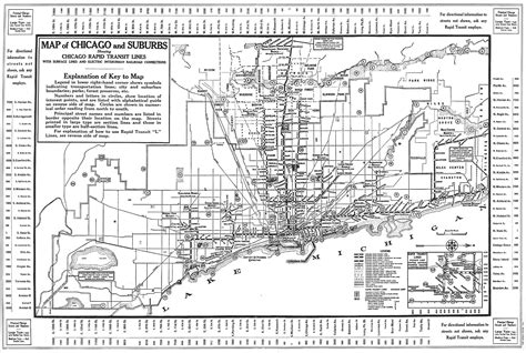 chicago map 1930 chicago l org system maps route maps