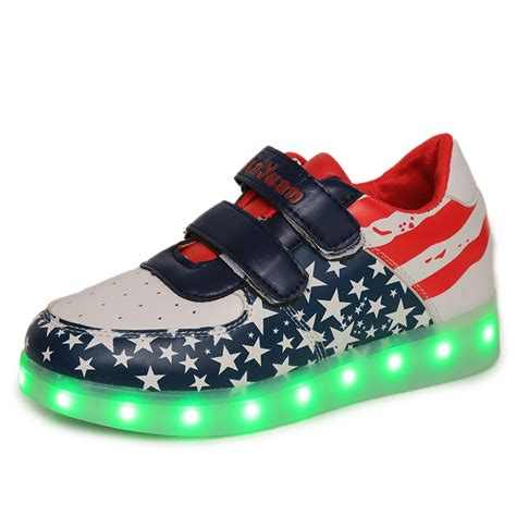kid shoes new 2016 usb charging led boys shoes