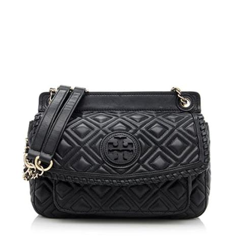 Burch Quilted Small Shoulder Bag Original burch quilted leather marion small shoulder bag