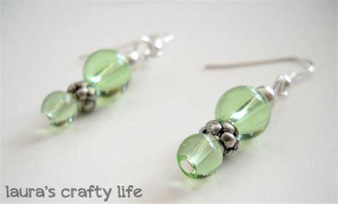 how to make glass bead earrings earrings and a handmade card s crafty